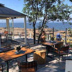 How wonderful summer cafè in western Finland. Finland, Westerns, Gazebo, Patio, Glass, Outdoor Decor, Summer, Instagram, Home Decor