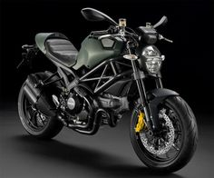 Ducati Monster Diesel-Love the OD Green. Makes this awesome bike look tougher then already did.