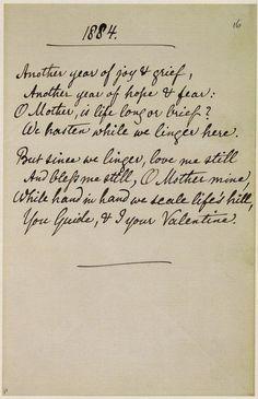 Christina Rossetti - poem in her handwriting