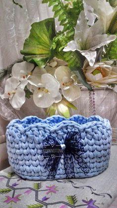 Penye ipten mavi sepet