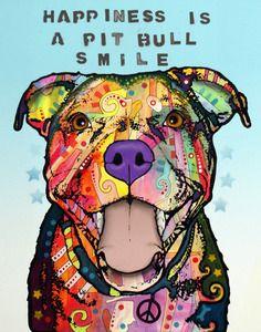 Smile Pit Bull Print, Dog Park Publishing