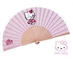 Abanico Hello Kitty. Precioso abanico de la firma Sanrio. Si eres una amante de la preciosa gatita, es la mejor opción para regalar a tus invitadas éste verano! http://www.regalodetalles.es/abanico-hello-kitty-p1875-p-2447.html