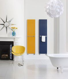Bright heated towel rails