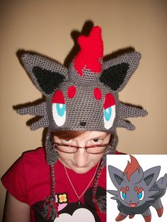 crochet pokemon hat | Zorua beanie hat by ~Sasophie on deviantART