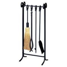 UniFlame Black Wrought Iron Inline Base Fireplace Tool Set with Heavy Weight Steel - The Home Depot Marble Fireplace Surround, Fireplace Grate, Fireplace Tool Set, Fireplace Mantels, Home Depot, Fireplace Accessories, Copper Color, Diamond Design, Black Decor