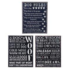 Headline Dog Wisdom Tin Plaque. Choice 3. Brand New in Home, Furniture & DIY, Home Decor, Plaques & Signs | eBay