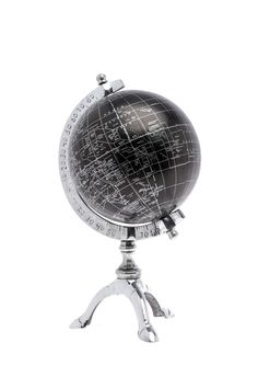This beautiful world globe is a great decorative piece for any room. Black globe with a silver frame.   World Globe by Lancaster House. Home & Gifts - Home Decor - Decorative Objects Louisiana