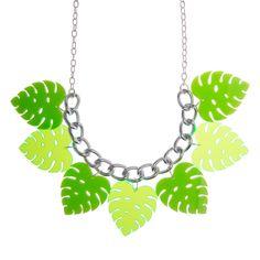 Sugar & Vice Monstera Leaf Necklace 1
