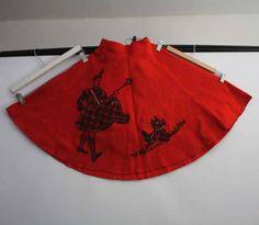 Applique Skirt, Full Circle Skirts, Fashion Fabric, Tree Skirts, 1950s, Fabrics, Vintage Fashion, Antiques, Holiday Decor