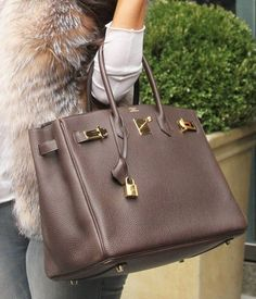 chocolate brown Hermes' bag