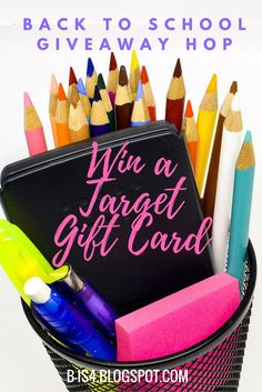 Back to School Giveaway Hop Enter to win a Target gift card to help with back/ to school shopping! Ends 8/10/16