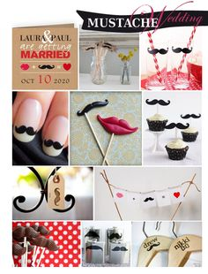 mustache and lips invitations | mustaches and lucious lips on sticks as props be fun quirky and ...