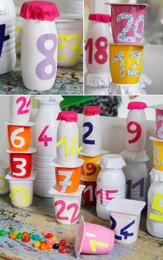 Le calendrier de l'avent, un bricolage facile à faire avec les enfants, l'idée decoration de noel - Grandir avec Nathan