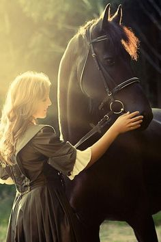 Romantic horse photography with lady petting horse's nose. Raindrops and Roses All The Pretty Horses, Beautiful Horses, Animals Beautiful, Stunningly Beautiful, Horse Photos, Horse Pictures, Horse Girl, Horse Love, Dark Horse