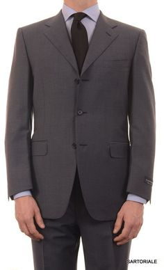 """CANALI Italy Blue Plaid Wool-Mohair Suit Classic Fit """"Natural Comfort"""" NEW"""