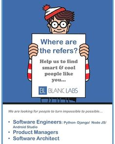 #code #coding #work #working #programming #java #javascript #angular #nodejs #python #django #ios #android #software #architect #engineers #product #hire #hiring #blanclabs #caracas #ccs We are hiring! Send us your resume to edgart@blanclabs.com