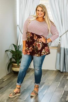 Shop for the perfect plus size tops with curvy fashion inspired tops! Our Plus size tops are sizes from the best plus size boutique for curvy girls clothes! Curvy Fashion, Plus Size Fashion, Girl Fashion, Bohemian Fashion, Fashion Ideas, Curvy Girl Outfits, Plus Size Outfits, Casual Outfits, Plus Size Sewing