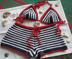 Ravelry: Crochet bikini bottom Boy shorts by Fashion Martina