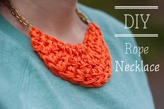 Is + Was: DIY Nautical Rope Necklace #jewelryinspiration #cousincorp