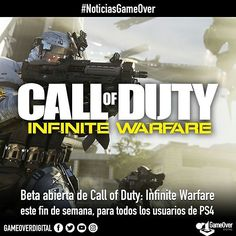 Beta abierta de Infinite Warfare este fin de semana en PS4. #COD #CallofDuty #InfiniteWarfare #OpenBeta #Ps4 #beta #InfinityWard