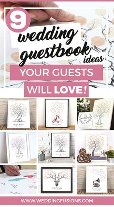 9 Finger guest book alternatives to make your wedding stand out!* Everyone loves fun wedding ideas right? Alongside your photos, wedding books are one of the most wonderful keepsakes and mementos! Wedding Book, Wedding Favors, Diy Wedding, Wedding Gifts, Wedding Day, Dream Wedding, Wedding Guest Book Alternatives, Wedding Trends, Wedding Styles