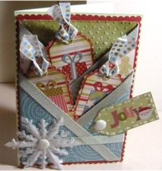 pocket card tutorial - herringbone-fold