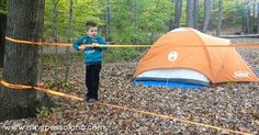 Get a slackline to set up on your next camping trip! So fun for kids and parents.