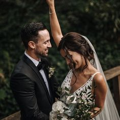 bride + groom | wedding day | mood pictures | candid | suit and tie | bouquet | outdoor shoot