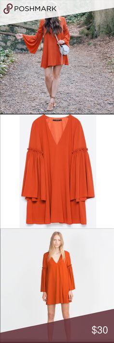 Zara bell sleeve dress- perfect condition Zara bell sleeve dress- perfect condition Zara Dresses