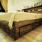 Pallet Big Bed with Storage Drawers