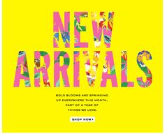 spring new arrivals. shop now. Email Layout, Newsletter Layout, Email Newsletter Design, Web Layout, Newsletter Ideas, Email Marketing Design, E-mail Marketing, Marketing Communications, Digital Marketing