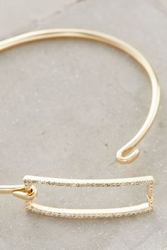 Pave Rectangle Bangle - anthropologie.com #anthrofave