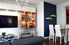 Modern condo design. Design collaborators: Reyes & Co. Design Studio and Samantha Concepcion Designs Condo, Reyes, Contemporary Interior, Flat Screen, Interiors, Projects, Log Projects, Flat Screen Display, Modern Interior