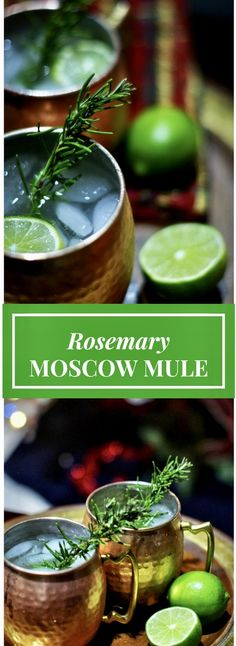 The Rosemary Infused Moscow Mule is bright, refreshing and bursting with tons of flavors. The rosemary sprig adds just the perfect fresh touch and pair so well with the vodka, lime juice and ginger beer. If you are not a fan of ginger this Rosemary Infused Moscow Mule Cocktail will change your views. Nothing can really beat the perfect combination of sweet and earthy rosemary simple syrup, chilled vodka, and lime juices. Cheers!