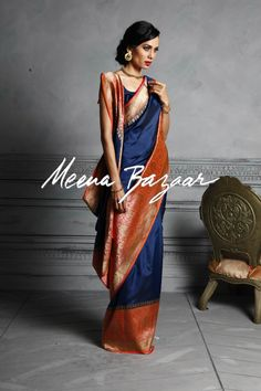 Banarasi Silk Saree- pretty colors