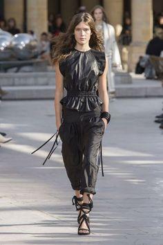 Tendances mode printemps été 2016 - Top en cuir, Isabel Marant
