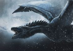 Awesome artwork featuring The Ice Dragon Viserion from Game of Thrones. Fantastische Grafik, die das Eis-Drache Viserion vom Game of Thrones kennzeichnet. of Thrones Arte Game Of Thrones, Game Of Thrones Artwork, Game Of Thrones Facts, Game Of Thrones Dragons, Got Dragons, Game Of Thrones Funny, Mother Of Dragons, Ice Dragon Game Of Thrones, Fantasy Dragon