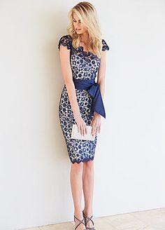 Sash Tie Lace Dress #kaleidoscope #occasionwear