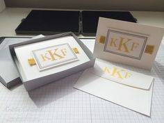 Easy DIY Stationary set using the Sophisticated Serifs stamp set from Stampin' Up!