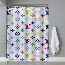 Louis Vuitton Multi Color Shower Curtain