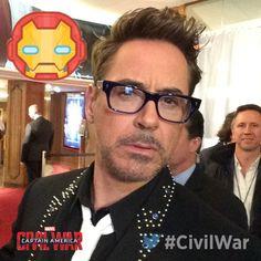 Robert Downey Jr. attends 'Captain America: Civil War' Premiere at Le Grand Rex on April 18, 2016 in Paris, France.