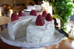 Fresh Strawberry Cream Cake #fresh #strawberry #whippedcream #cake #SomethingSweetTX