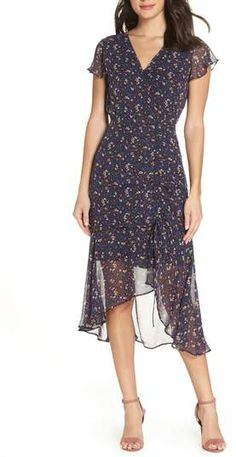 Sam Edelman Ditzy Print Ruched Midi Dress 0bfd112e9bb7
