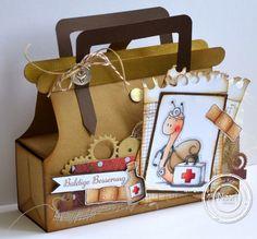Stempeleinmaleins: Arzttasche als Gute-Besserungs-Geschenk