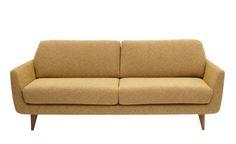 Denne, men kanskje i rosa, turkis eller grønn? Love Seat, Recliners, Couch, Mustard Yellow, Benches, Interior, Furniture, Home Decor, Men