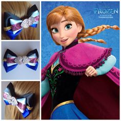 Handmade Hair Bow. Anna from Disney's Frozen. by HairBowObsessions, $7.00