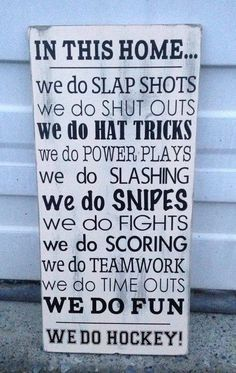 Nothing is more satisfying than whacking a small, hard ball, with a large, hard field hockey stick. But field hockey lets you dribble that. Montreal Canadiens, Mtl Canadiens, Hockey Decor, Hockey Crafts, Quotes Girlfriend, Hockey Girlfriend, Hockey Wife, Hockey Memes, Funny Hockey