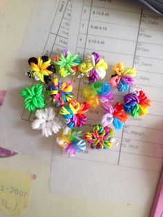 All of my rainbow loom flowers! Tell me which one you like most?