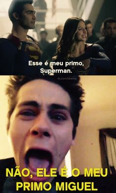 Stiles assistindo supergirl kkkkkk