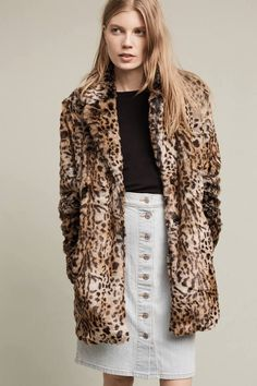Sanctuary Kate Faux-Fur Leopard Coat